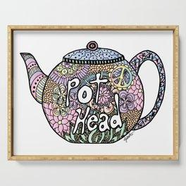 Tea Pot Head Serving Tray