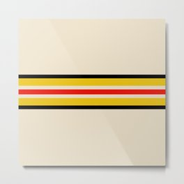 Classic Retro Stripes Amemasu Metal Print