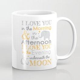 Elephant Nursery Poem - Orange Coffee Mug