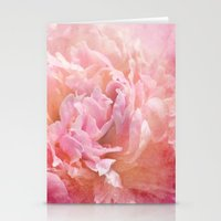 peony Stationery Cards featuring Peony by KunstFabrik_StaticMovement Manu Jobst