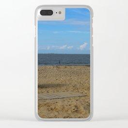 Beach Life in Autumn Clear iPhone Case
