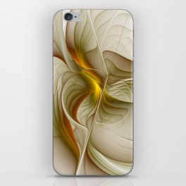 Abstract With Colors Of Precious Metals, Fractal Art iPhone Skin