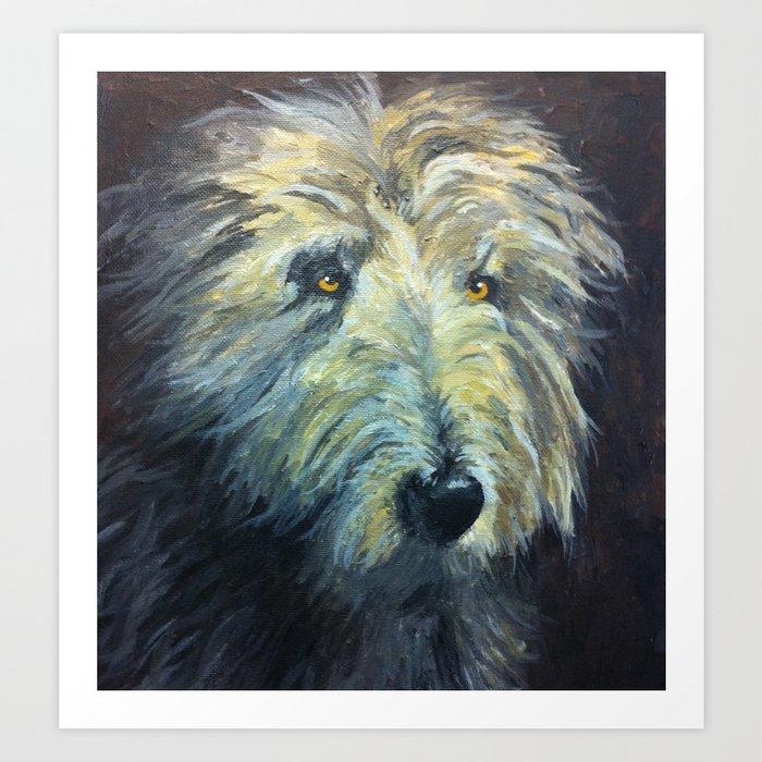 bearded collie Art Print