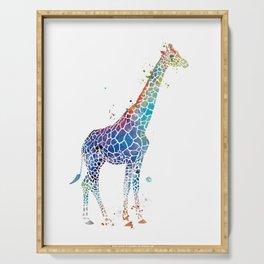 Blue Giraffe Serving Tray