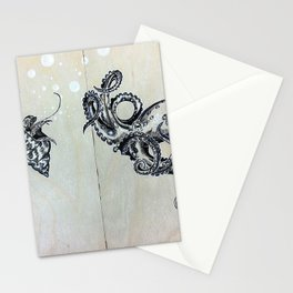 Blue Ringed Octopus and Crab Stationery Cards
