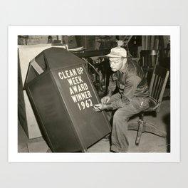 """""""Clean Up Week 1962"""" Art Print"""
