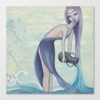 aquarius Canvas Prints featuring Aquarius by Artist Andrea