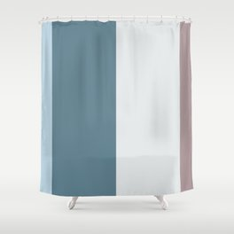 Parable to Behr Blueprint Color of the Year and Accent Colors Vertical Stripes 7 Shower Curtain