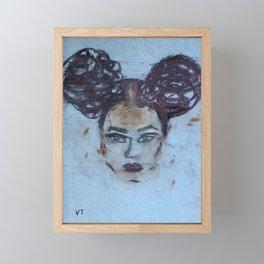 AFRO PUFF Framed Mini Art Print