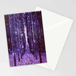 Magical Forest Purple Stationery Cards