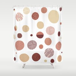 Freehand illustrated circles - Fall colours Shower Curtain