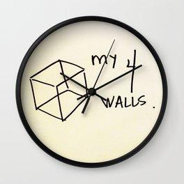My 4 Walls Wall Clock