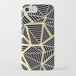 Ab Lines 2 Gold iPhone Case