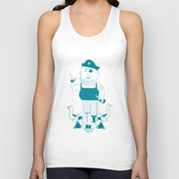 pirate Tank Tops featuring Pirate by angry bean