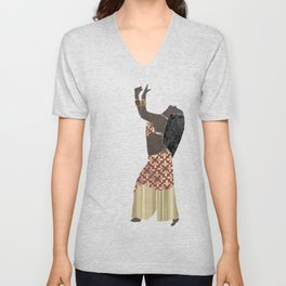 Belly dancer 1 Unisex V-Neck