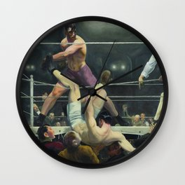 George Wesley Bellows Dempsey VS Firpo Wall Clock