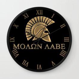 Molon lave-Spartan Warrior Wall Clock