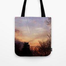 Sunset Streak Tote Bag