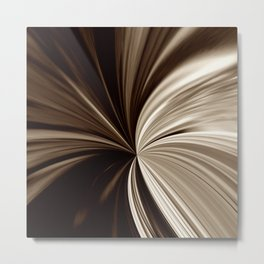 Milk Chocolate Swirls Digital Abstract Print Metal Print