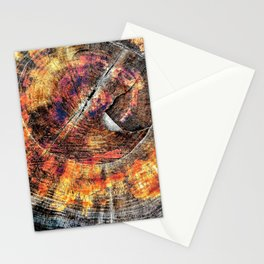 Tree Stump Ring Circle Stationery Cards