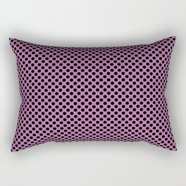 Bodacious and Black Polka Dots Rectangular Pillow