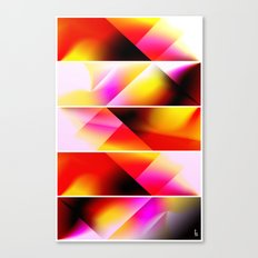 Psychedelic Stairway (Five Panels Series) Canvas Print