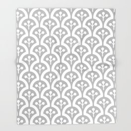 Atomic Mushroom Grey Throw Blanket