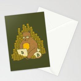 Bitcoin Miner T-shirt Bear Stationery Cards