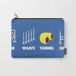 Tire Weave Tunnel Jump - Blank Carry-All Pouch