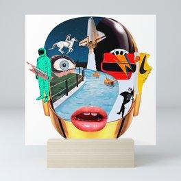 Daft punk pop art Mini Art Print