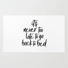 Never too late Rug