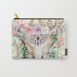 Skull boho and triangles Carry-All Pouch