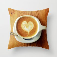 A Warm Cup of Love Throw Pillow