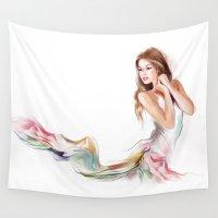 fairy Wall Tapestries featuring fairy by tatiana-teni
