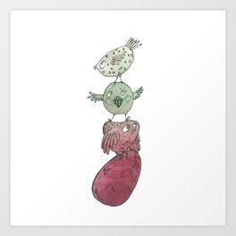 Bird totem Art Print