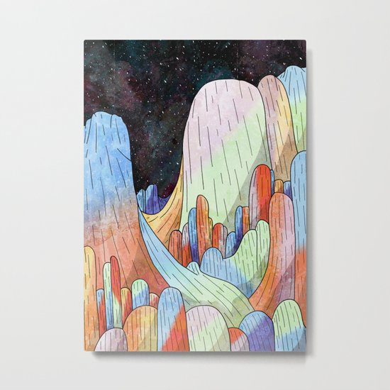 coral Mountains Metal Print