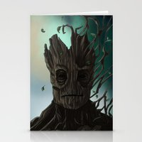 groot Stationery Cards featuring Groot by ssst