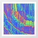 Iridescent Cosmic Rays Pop Art by perkinsdesigns