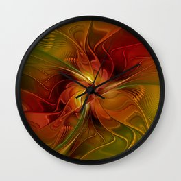 Warmth, Abstract Fractal Art Wall Clock