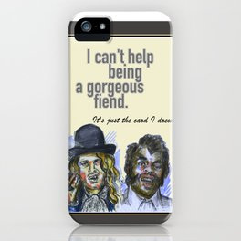 I can't help being a gorgeous fiend - Psych Quotes iPhone Case