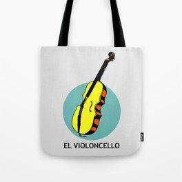 El Violoncello Mexican Loteria Card Tote Bag