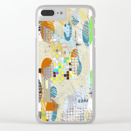 Grid Alignment Clear iPhone Case