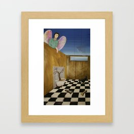looking indifferent Framed Art Print