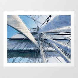Nautical Sailing Adventure Art Print