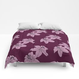 Lily The Tiger - Purple Comforters