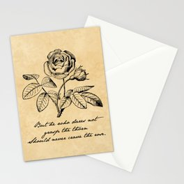 Anne Bronte - Crave the Rose Stationery Cards