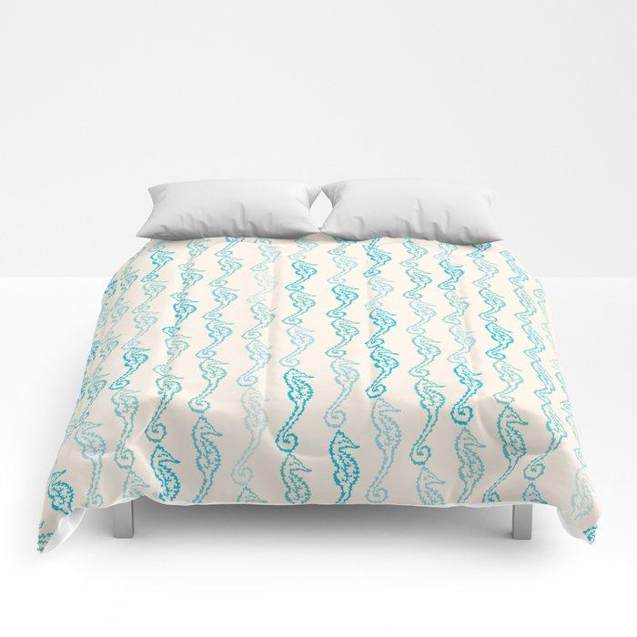 Pastel Marine Pattern 01 Comforters