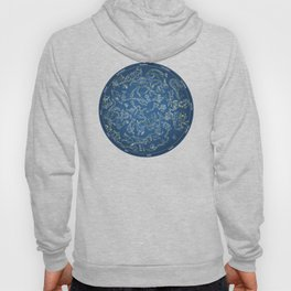 Constellations of the Northern Sky - Negative version Hoody