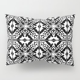 Moroccan Tile Pattern in Black and White Pillow Sham