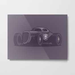 GAZ GL1 Custom Vintage Hot Rod Classic Street Racer Car - Black Metal Print